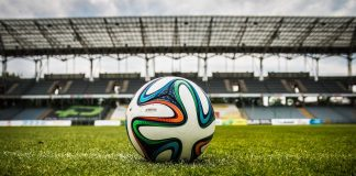 voetbal in stadion